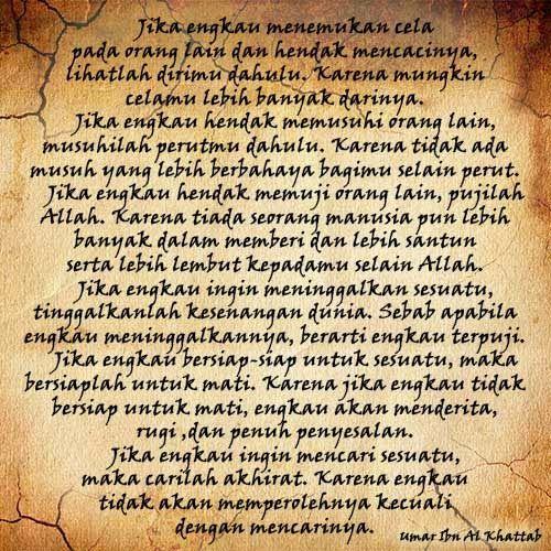 Dp Bbm 6 Wasiat Umar Bin Khattab Islamic Quotes Kutipan