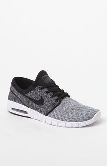 Stefan Janoski Max Knit White   Black Shoes  73abb8a257