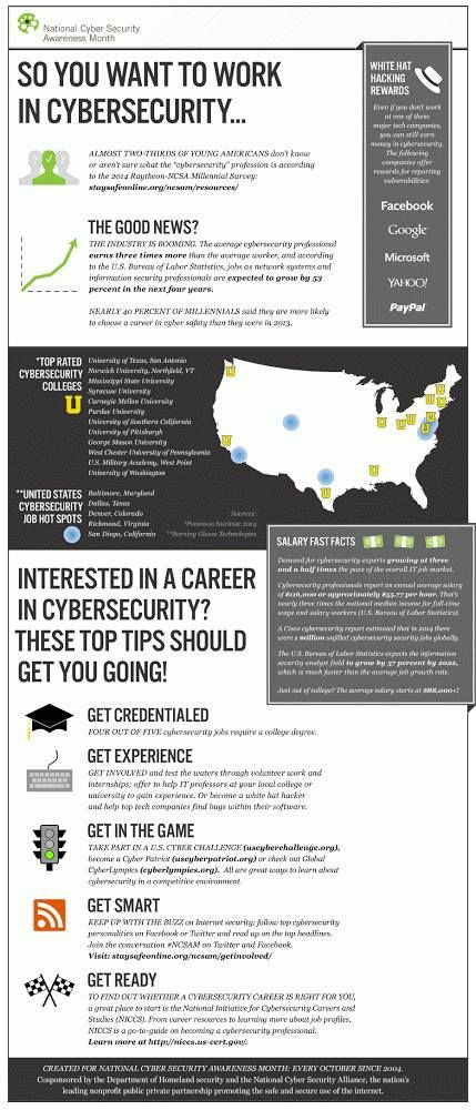 So You Want To Work In Cybersecurity Infographic Tips Cyber Security Computer Security Cybersecurity Infographic