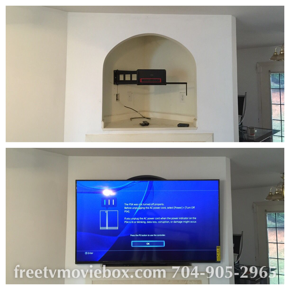 Free Tv Wall Mount With Every Installation Prices 99 And Up Home Theater Wiring Cable Box Charlotte Tvmounting Tvinstallation Hometheater Tvwallmount Tvstand