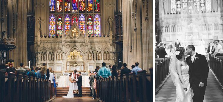 Wedding Ceremony At The Trinity Church In Nyc Captured By Photographer Ben Lau