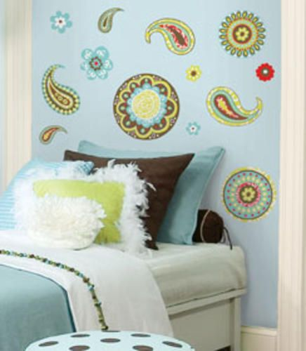 Roommates Paisley Peel Stick Wall Decals At Menards Digs