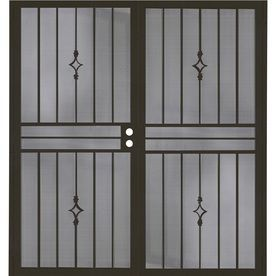 Larson Pembrook Brown Aluminum Hinged Screen Door Common 32 In X 81 In Actual 31 75 In X 79 75 In 36048041sts Security Door Aluminum Hinges Metal Screen Doors