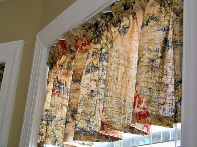 Valance fabric is a French country toile called Bosporus ...