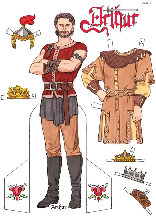 King Arthur Paper Dolls By Eileen Rudisill Miller (1 Of 4), Dover