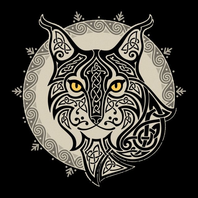 Lunar Lynx. My native American great-grandmother was a member of the lynx clan. This is beautiful!