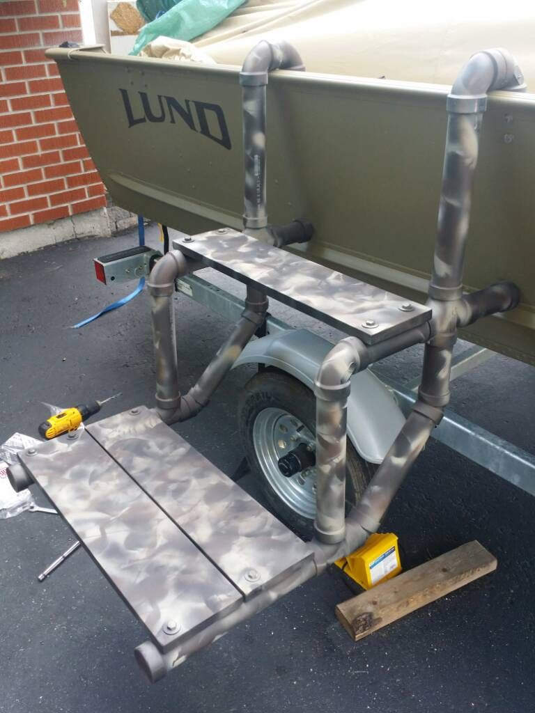 DIY boat dog ladder
