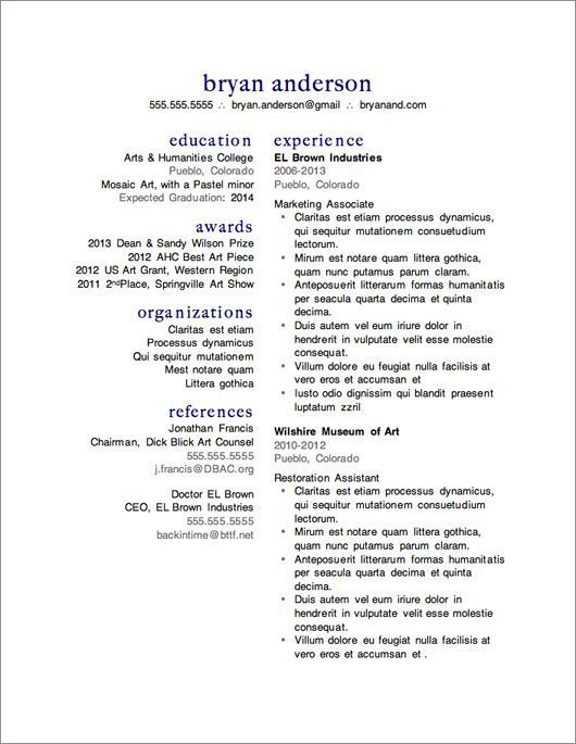 Great 12 More FREE Resume Templates | Primer