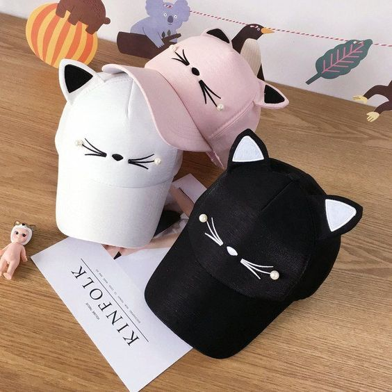 Photo of Gorro de oreja de gato Kawaii SE10141