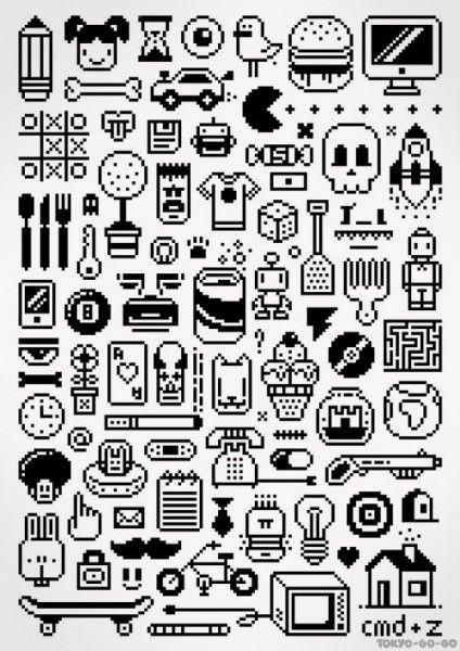 Tiny Things 8 Bit Pixel Art Art Design Inspiration 8 Bit Icons Pixel Art Pixel Art Design Pixel Art Tutorial