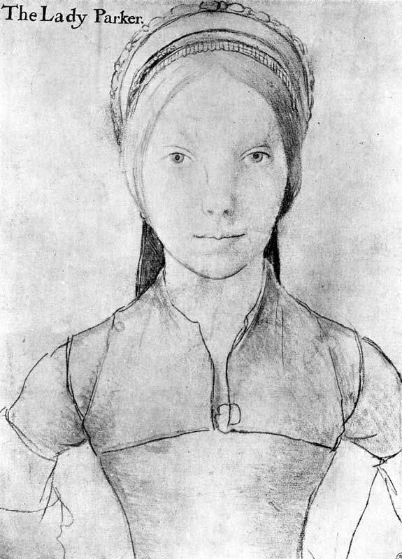 Portrait Of The Lady Parker A Sketch By Hans Holbein The Younger