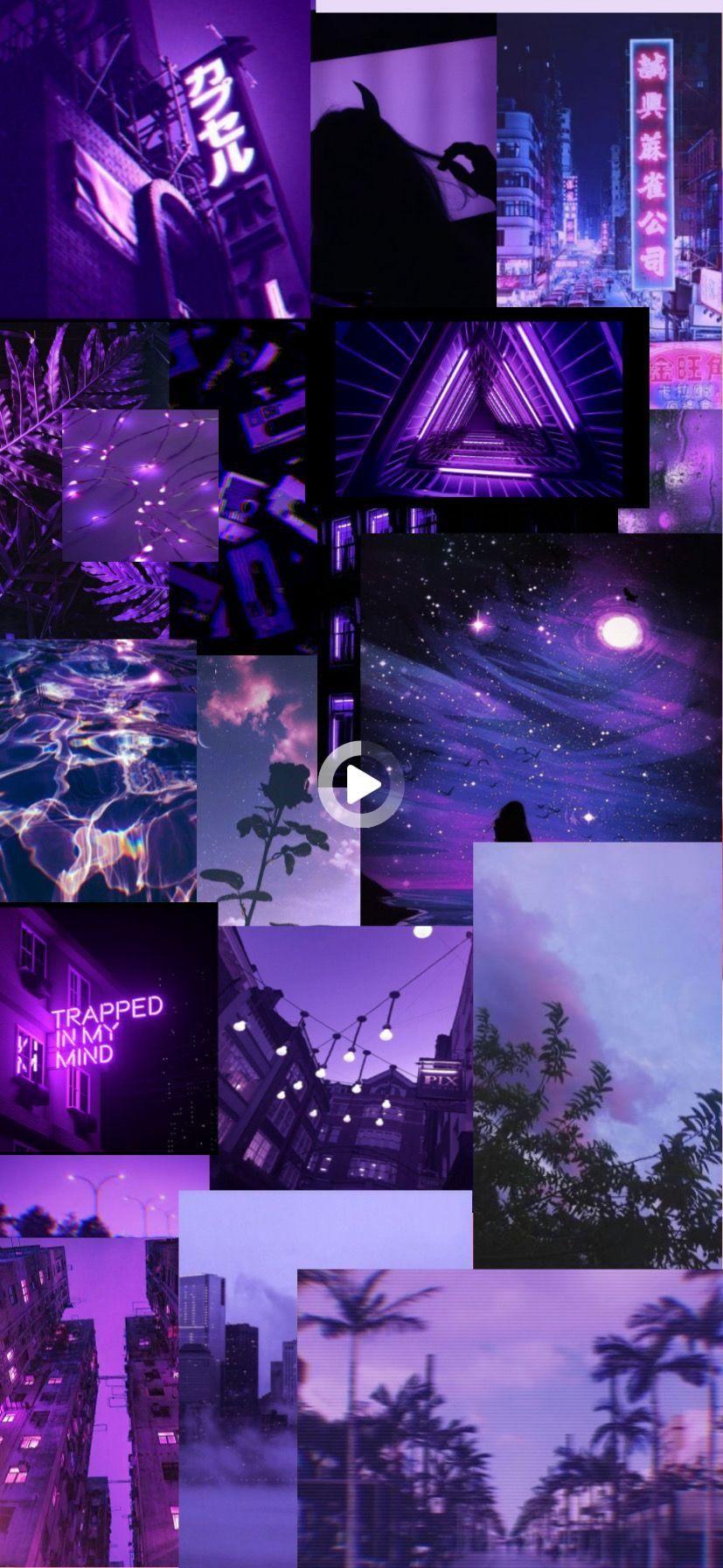Purpleaesthetic Wallpaper Purple Collage Aesthetic Freetoedit Purple Wallpaper Purple Wallpaper Phone Dark Purple Wallpaper Dark iphone purple aesthetic wallpaper