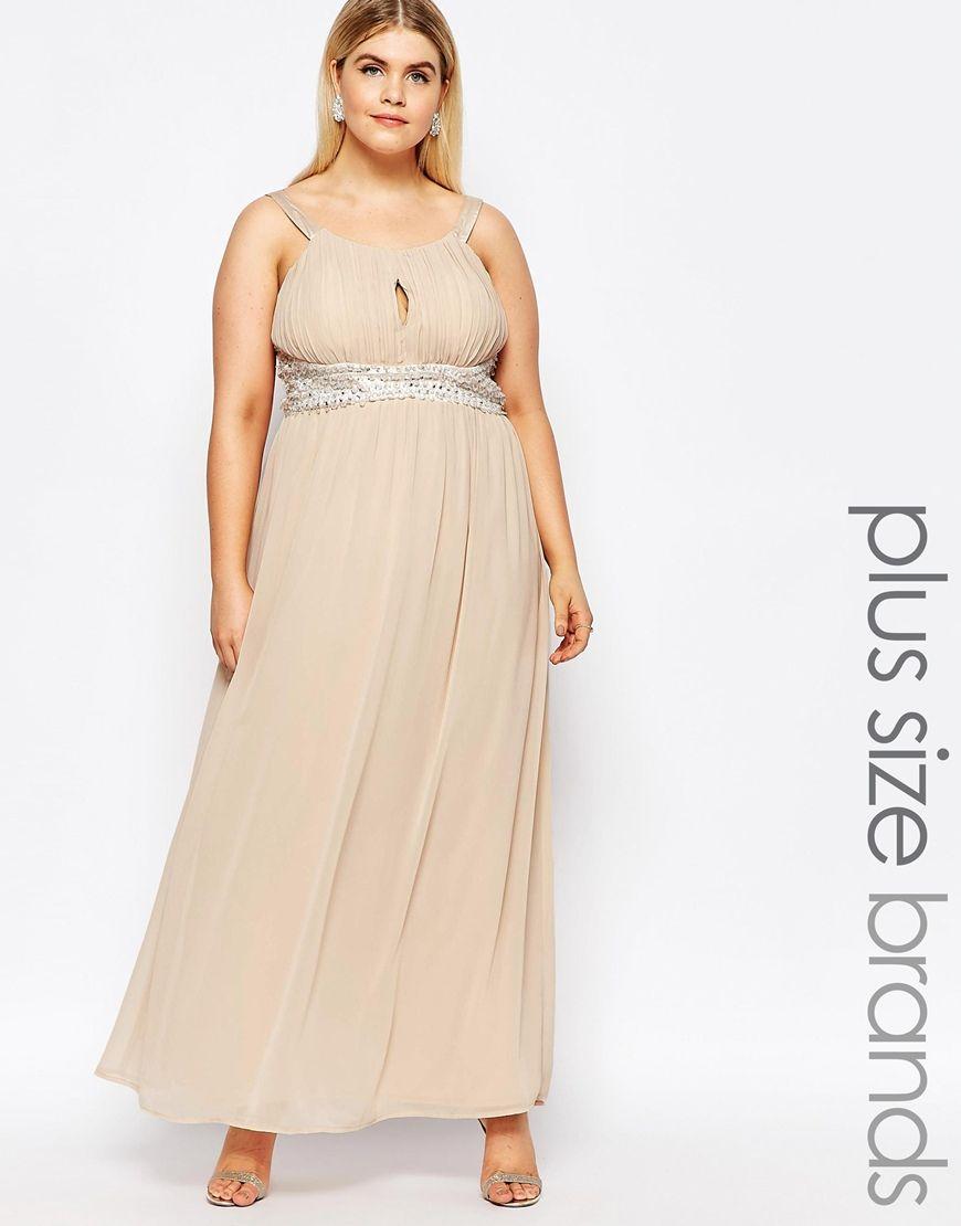 AX Paris Plus Maxi Dress With Embellishment