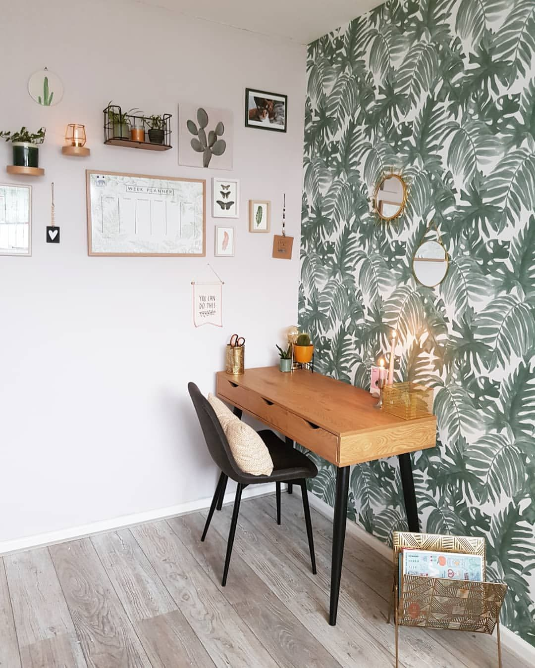 Industrial Study Room: Die Wand Is Echt Gaaf @liesinterior In 2020