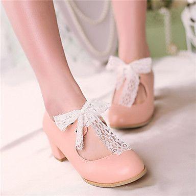 Zapatos rosas de punta redonda infantiles vJKcMKiWKN