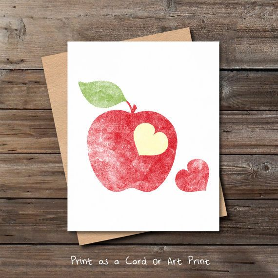 Unique love card printable download love card for him her red apple