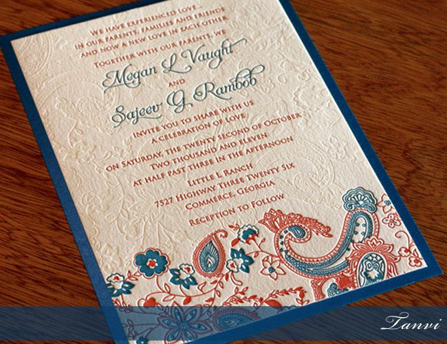Indian Wedding Invitation Wording For Friends Card: Classic Designs For Marriage Invitations
