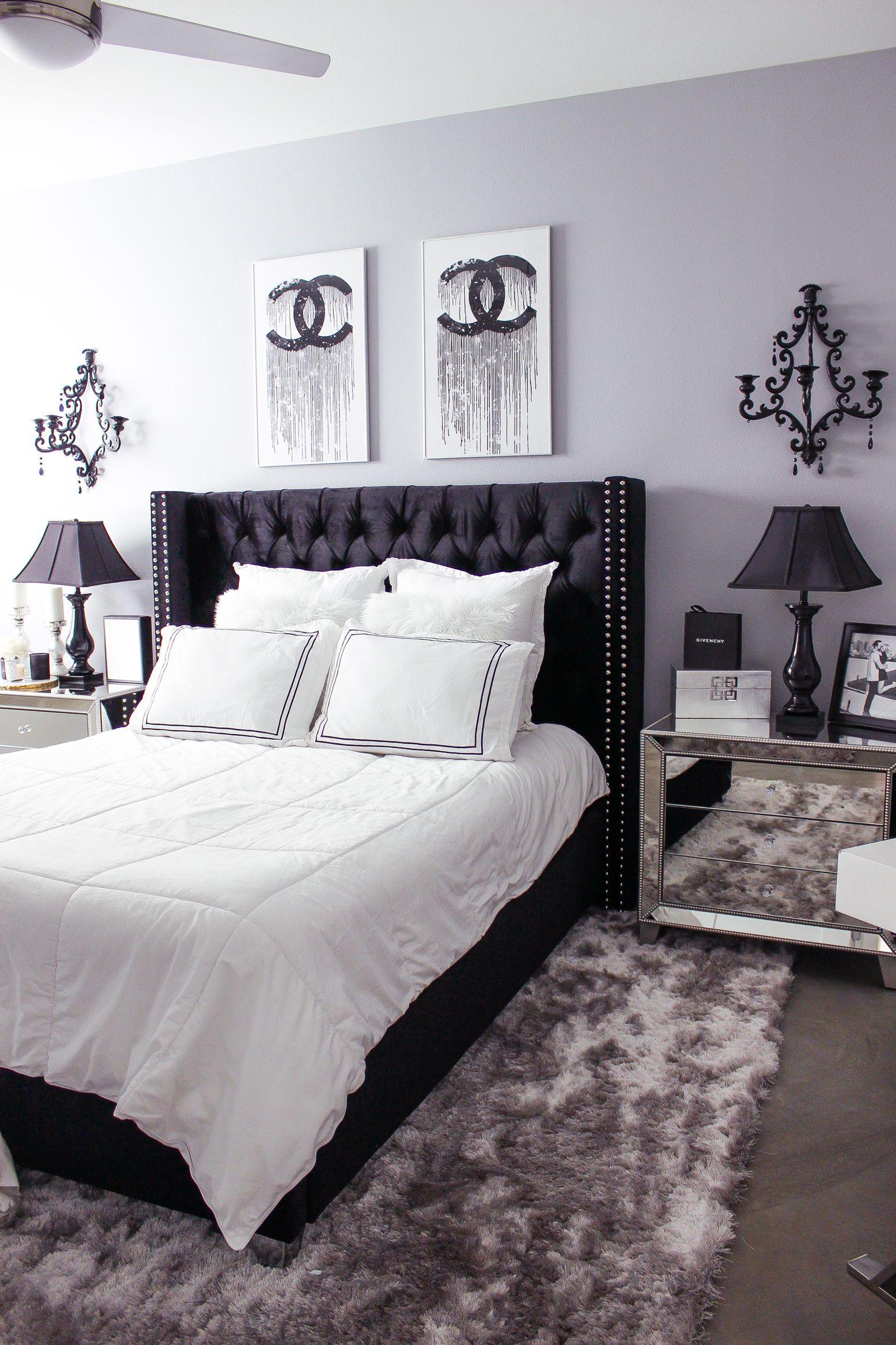 Black & White Bedroom Decor Reveal | White bedroom decor ...