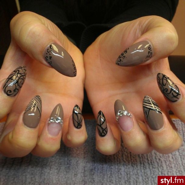 Mooi Je Nail Nagels En Makelijke Om Zelf The Doen Black And White Nail Art Nail Art Nails