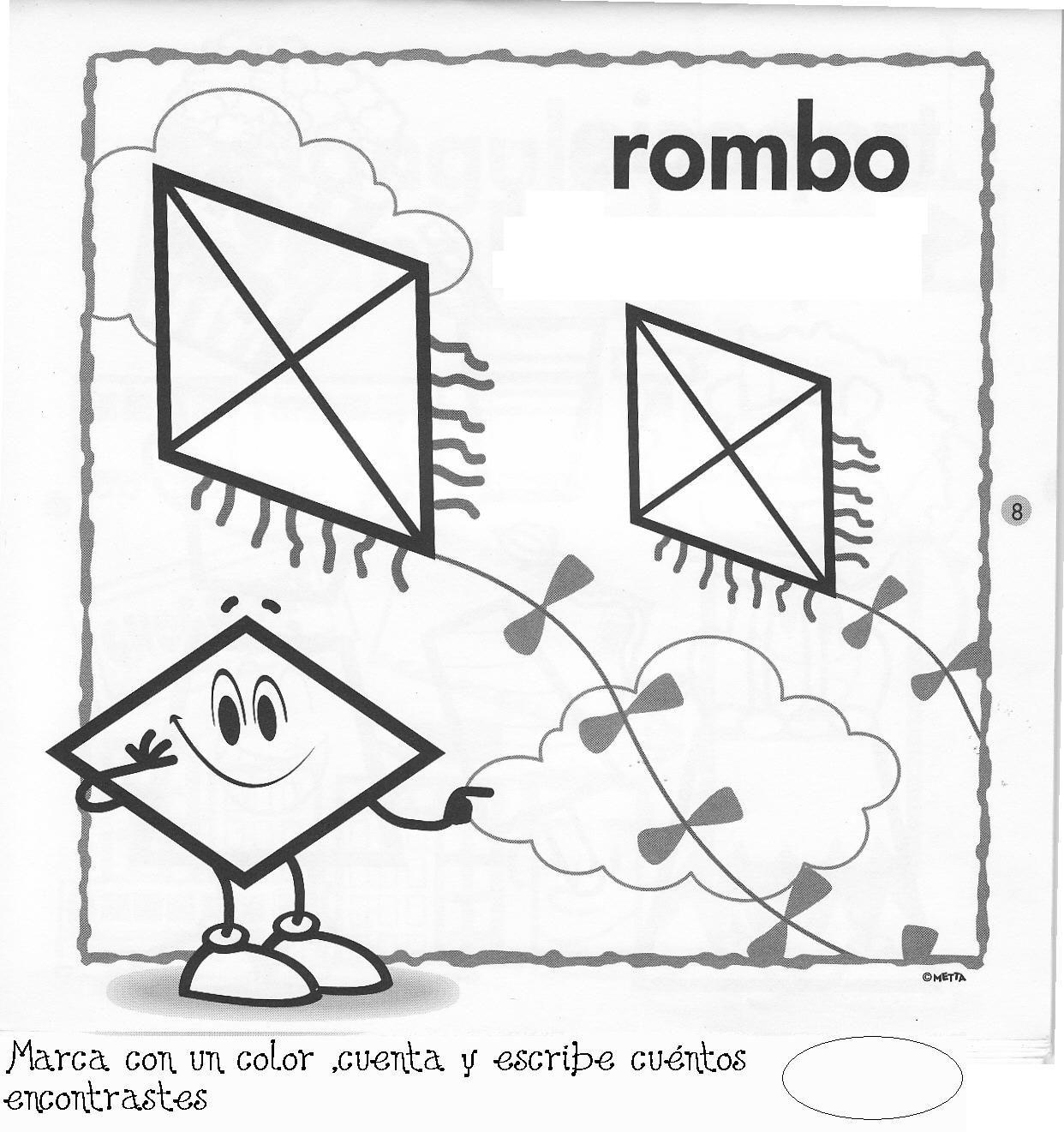 Fichas para pintar fichas figuras geometricas fichas de - Maneras de pintar ...