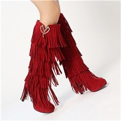 Stylish Tassels Knight Knee-high Boots