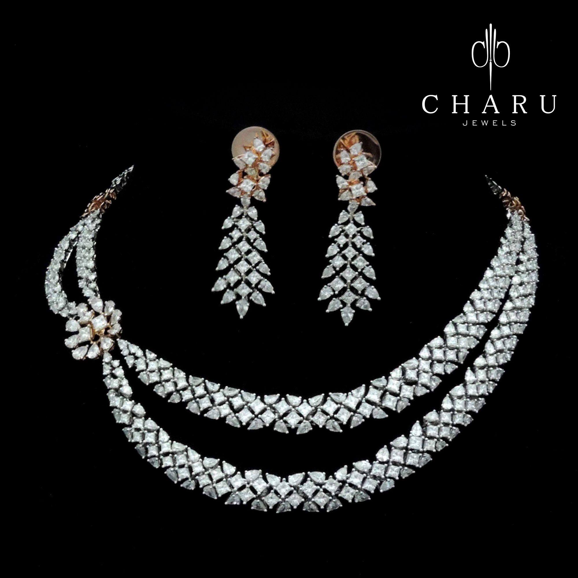 Bridal classics necklace sets mj 259 -  Traditional Indian Diamond Jewelery From Charu Jewels Exclusive Indian Wedding Jewelrywedding Jewelry Setsindian