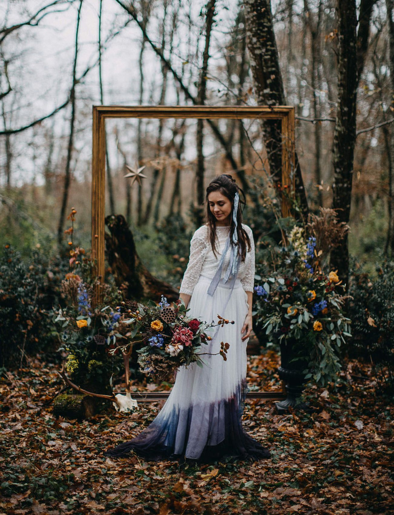 093f18ae724e Enchanting Winter Solstice Wedding Inspiration at a Stunning French ...