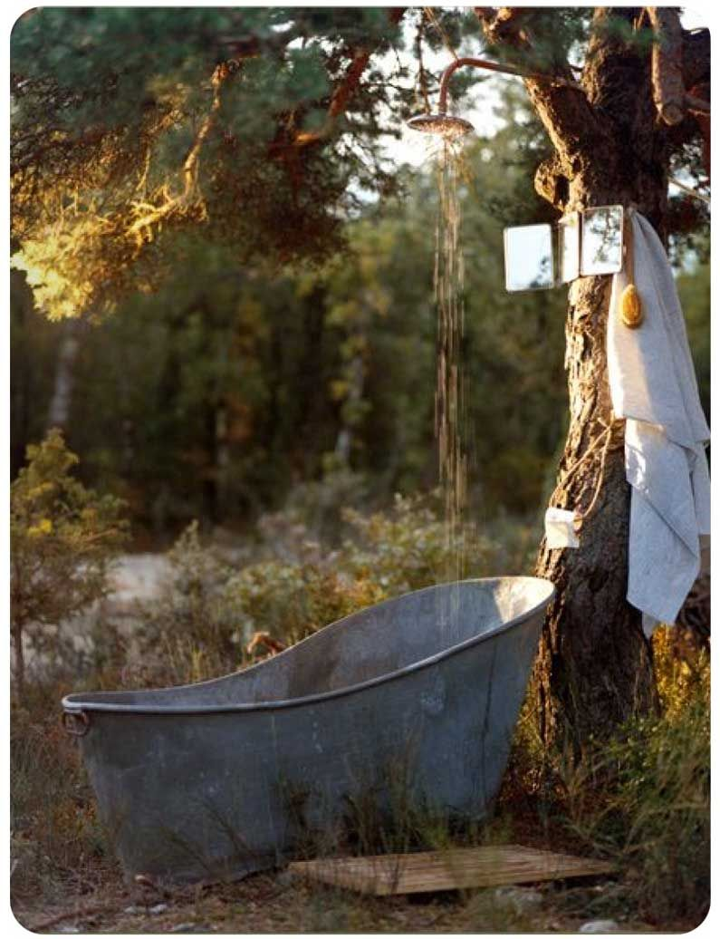 Outside bath | Summer Inspirations | Pinterest | Bath, Outdoor tub ...