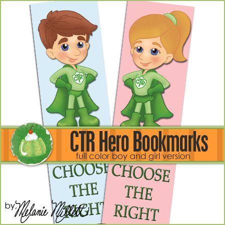 CTR Superhero Printable Bookmarks - awesome gift for Primary kids