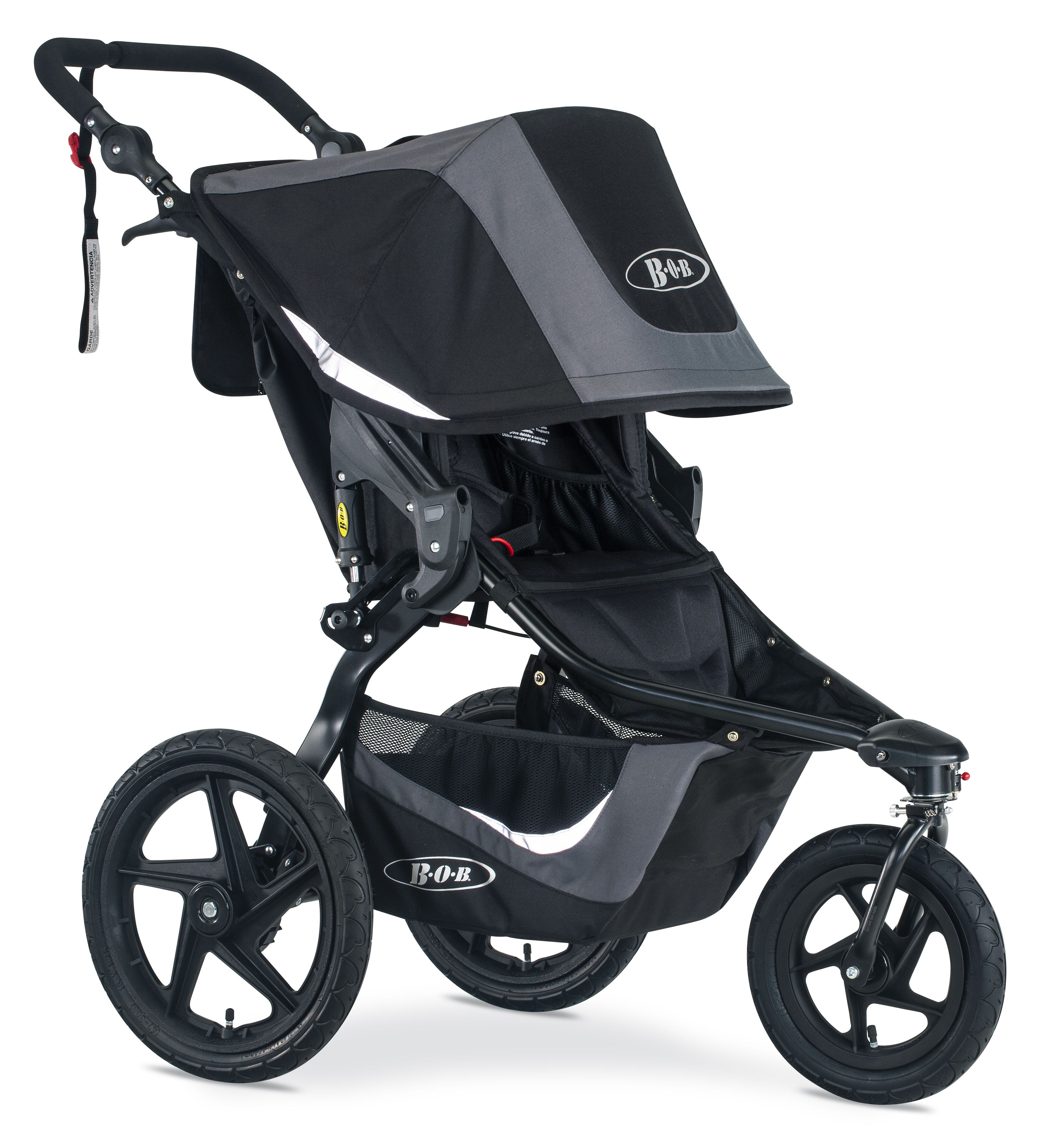 Carriage Type Strollers Mountain Bike Style Suspension Air Filled Tires Provide An