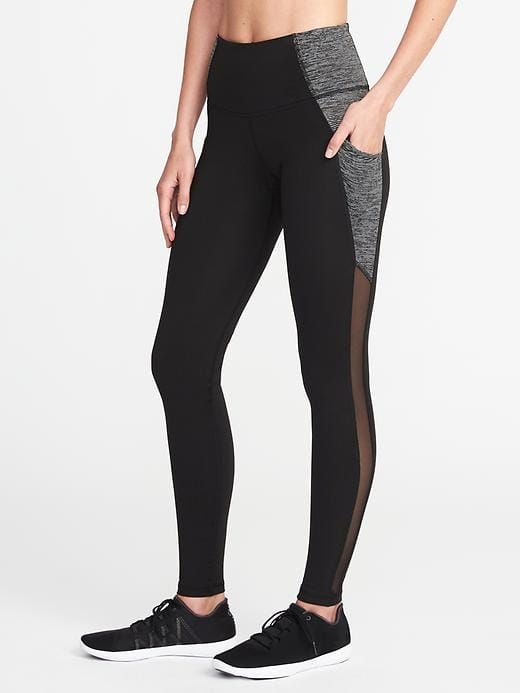 b813b108e9750f High-Rise Go-Dry Side-Pocket Compression Leggings for Women | Old Navy