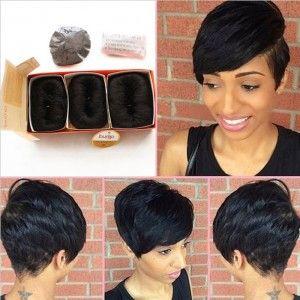 Brazilian Human Short Hair Extensions 27 Pieces Short Straight