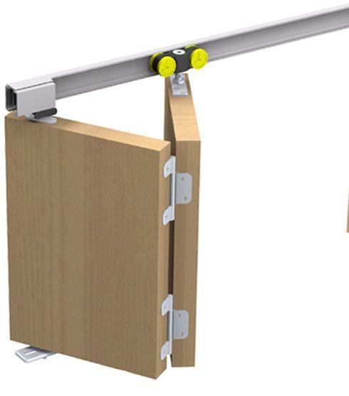 schiebet rbeschlag tango 40 150 f r eine faltt r faltschiebet r bis 150cm breite schiebet r. Black Bedroom Furniture Sets. Home Design Ideas