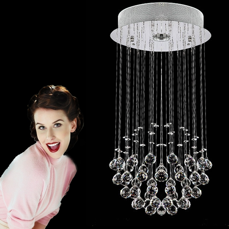 81.90$  Watch now - http://alipgq.shopchina.info/go.php?t=697321392 - Modern brief crystal lamps crystal ceiling chandelier bedroom GU10 hanging crystal lighting bedroom crystal chandelier kids room 81.90$ #SHOPPING