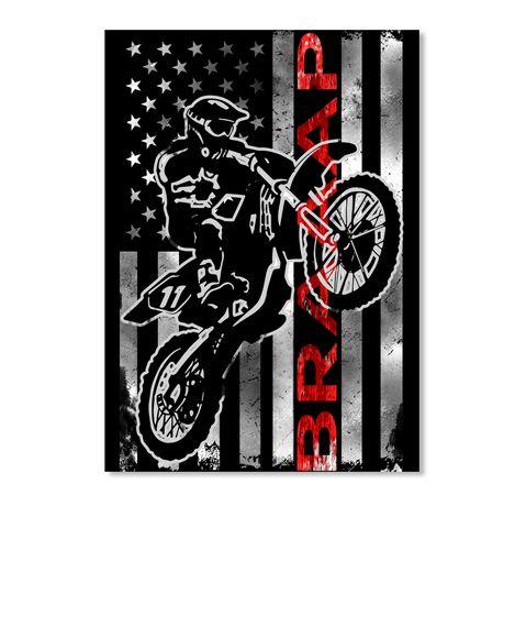 188c020e168 Usa Motocross Braaap Flag ! Black Sticker Front