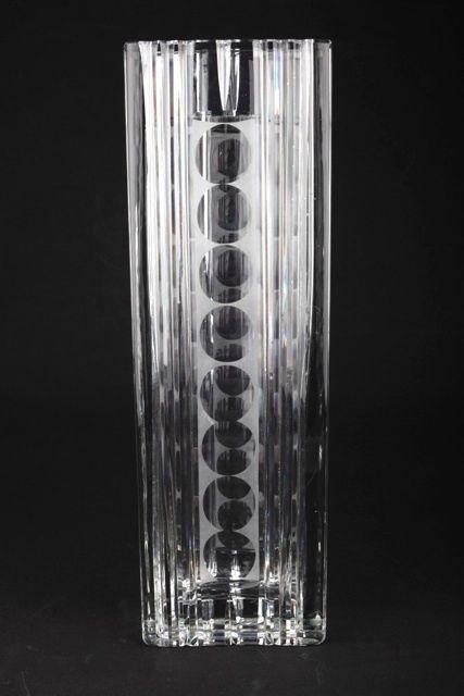 4 kg 35 cm Vintage crystal glass vase 60s 70s lens cut