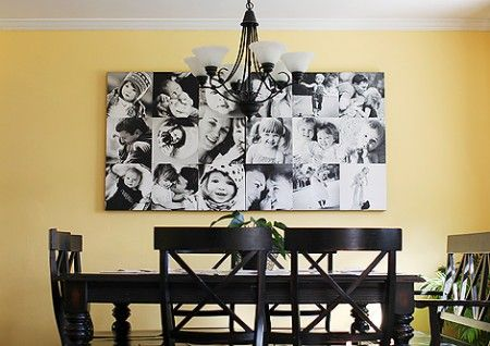 Love the idea... going to ponder how to do it without involving the expense of a photo lab printing things on canvas... LOL