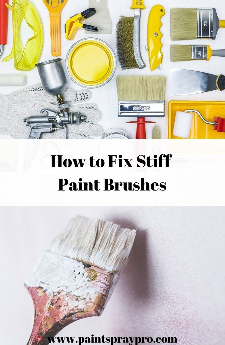 How to Clean Dried Paint Brushes in 2020 Cleaning paint