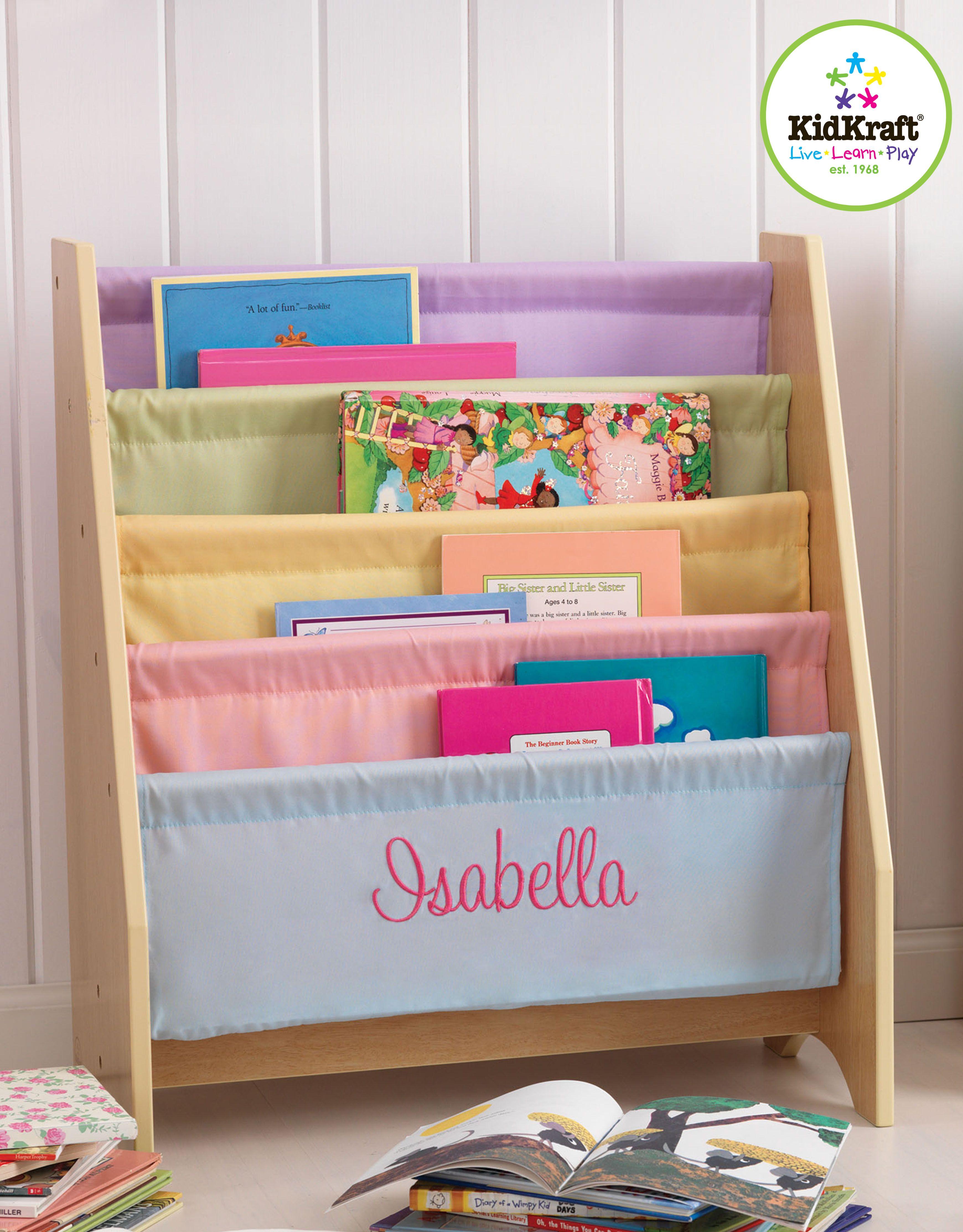 KidKraft Pastel Sling Bookshelf