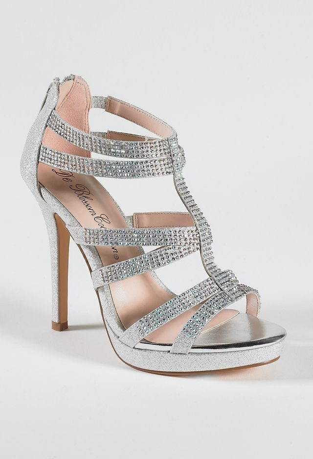 6d8d4de66e1 High Heel Multi Band Sandal with Stones from Camille La Vie and ...