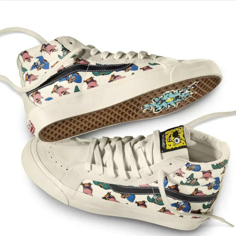 18d11cd777 Retailmenot Coupon Vans Vault by Vans SK8 Hi x Spongebob Squarepants White  Yellow YY336 Cartoon Casual Skate Shoe Vans For  Vans
