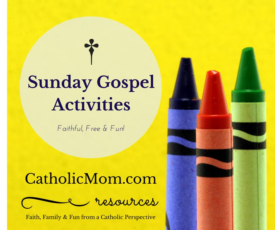 Catholic Gospel Coloring & Worksheets for Sunday Mass - October 2016 ...