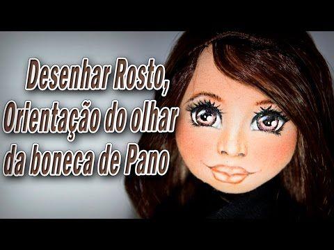 Boneca De Pano Pintar O Rosto Da Boneca Boca Por Luciane