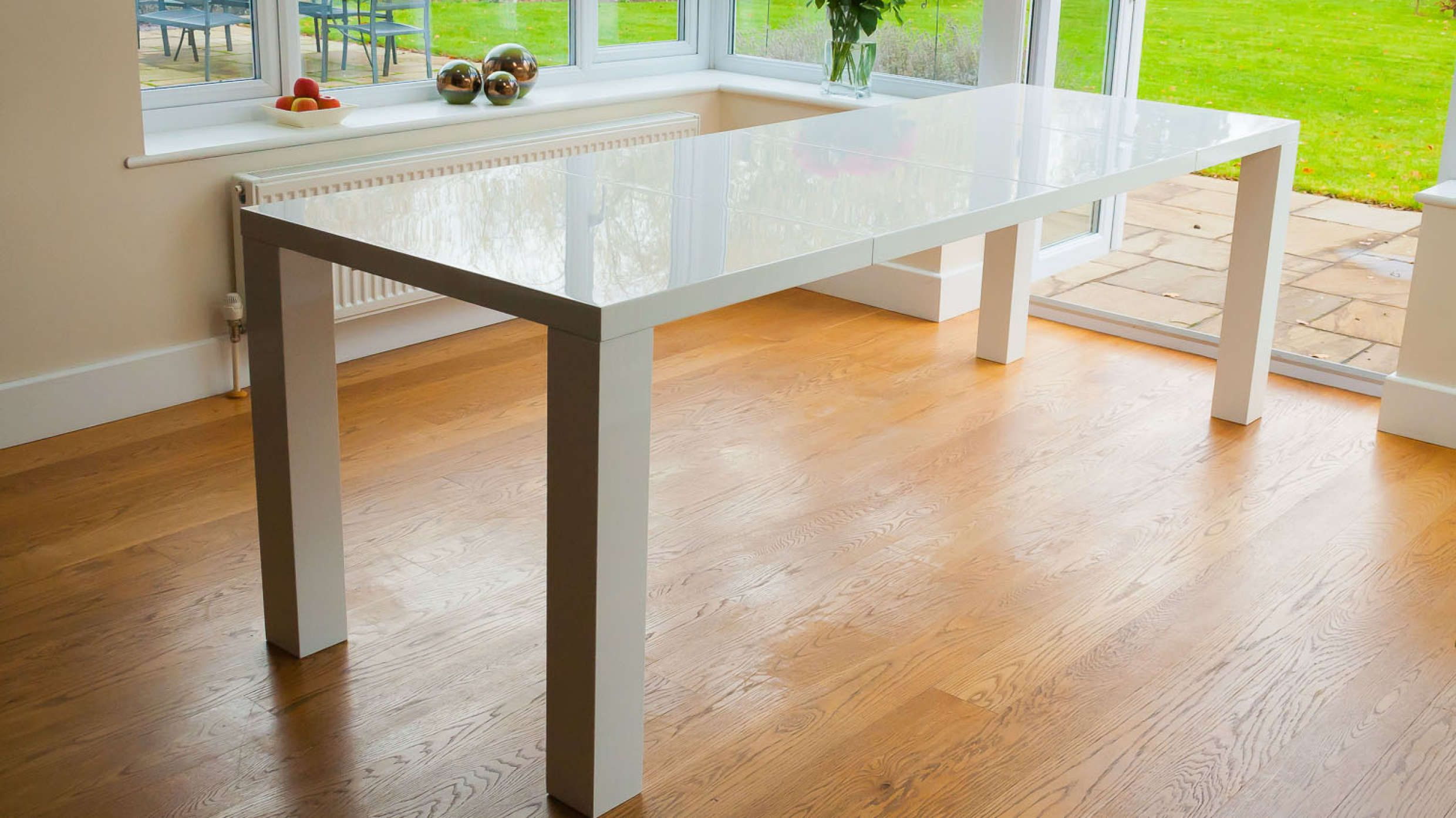 fern white gloss extending dining tablefern white gloss extending dining table furniture ferns and. beautiful ideas. Home Design Ideas