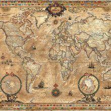 Valokuvatapetti - Pergament Map