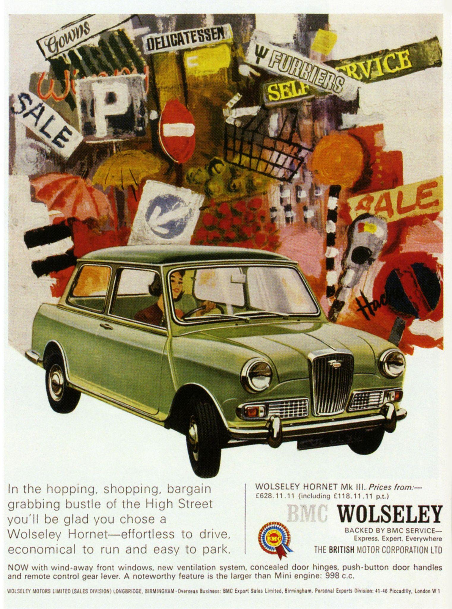 bmc wolseley hornet mark iii 1967 - 46 Automotive Cv Effortless