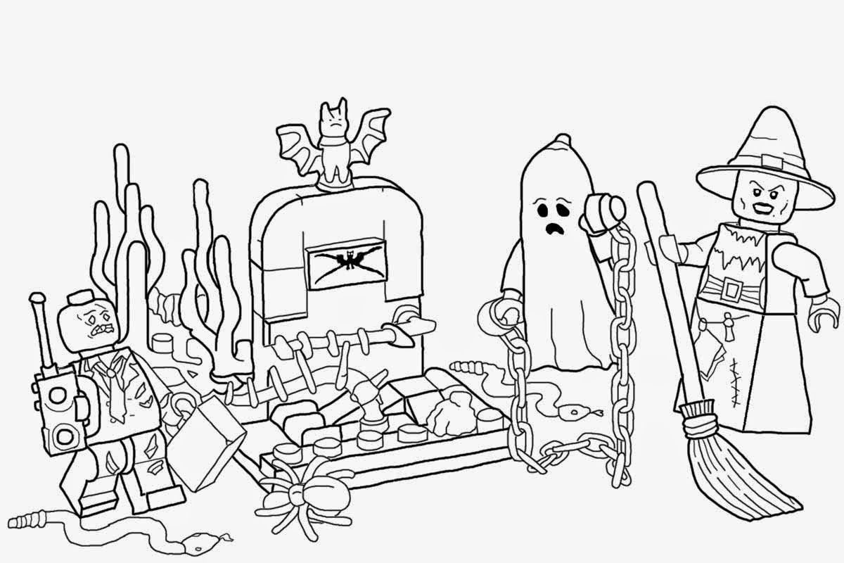 Lego Halloween Coloring Pages Risunok
