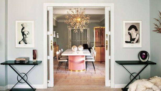 Droom weg bij dit huis met een pastel glam interieur dromen mag
