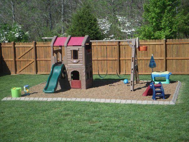 Pin By Summer Brock On Yard Ideas Stone Decor Play Area Backyard Backyard Playground