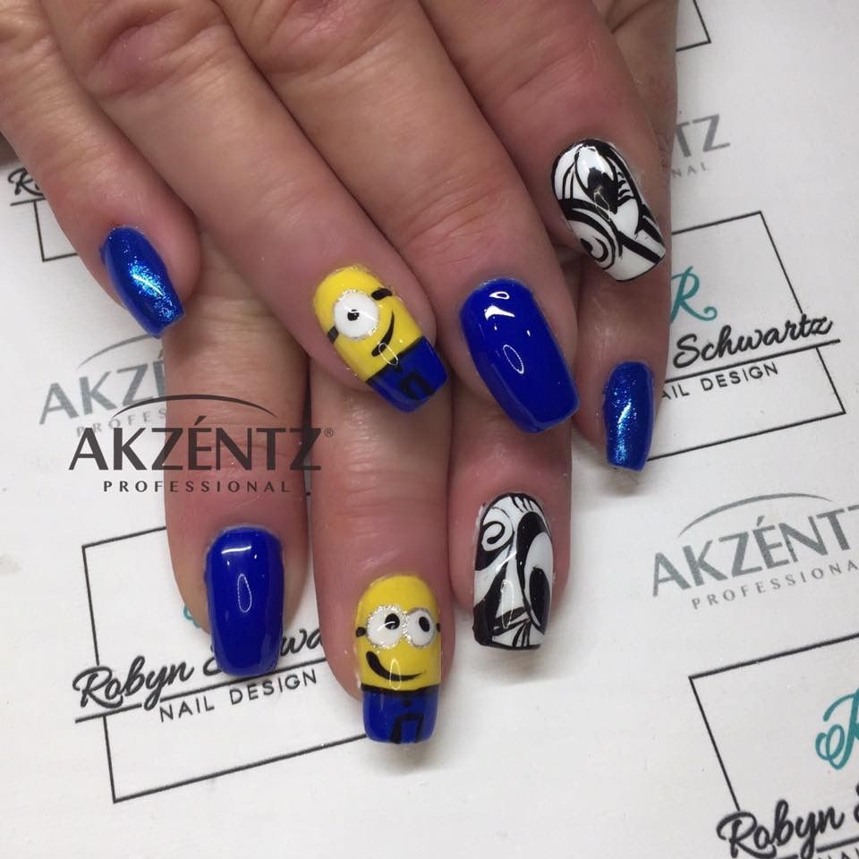 How cute are minions! Luxio lookout and hand painted minions on ...